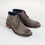 Cordwainer Veloursleder-Boots, 42,5 - Graubraun