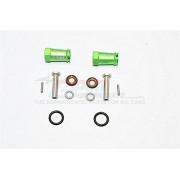 Axial SCX10 II Upgrade Parts (AX90046, AX90047) Aluminium Wheel Hex Adapters 23mm Width (Use For 4mm Thread Wheel Shaft & 5mm Hole Wheel) - 1Pr Set Green