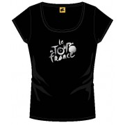 Tour De France T Shirt Dames Met Logo Zwart Maat M