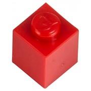 Q-Bricks 1 x 1-Stud Building Blocks flojo Pack (500 piezas, rojo)