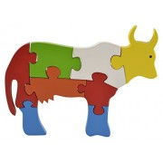 Skillofun Wooden Take Apart Puzzle Large - Cow, Multi Color