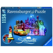 Ravensburger puzzle contur orizont new york, 1158 piese