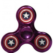 High Speed Fidget Spinner- Stylish New Arrival with Star- Chrome with Metallic Red-Silver-Pink Colour
