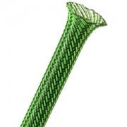 Sleeving Techflex Flexo PET Sleeve 9mm, green/black, lungime 1m