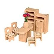 Beluga 70124 Dolls House Dining Room Furniture 7–Piece Set