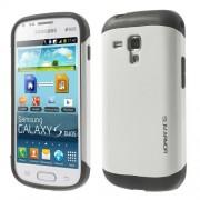 Елегантен твърд гръб за Samsung Galaxy S Duos - бял