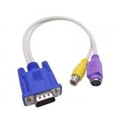 NTR 92047 VGA dugó - S-Video+RCA aljzat TV átalakító kábel 30cm