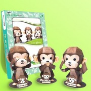 Papertoy - The three wise Monkeys