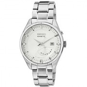 Seiko White Stainless Steel Round Dial Quartz Watch For Men (SRN043P1)