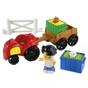 Little People Farm Tractor & Trailer Plyset