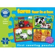 Set 4 Puzzle - La Ferma (4, 6, 8 &Amp; 12 Piese) - Orchard Toys (209)
