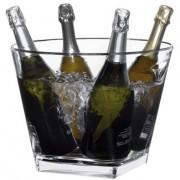 Cubitera Quadra acrílica para 4 Botellas 75 Cl