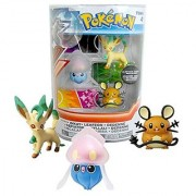 Pokemon Inkay Leafeon & Dedenne with Attack Tags 3 Pack