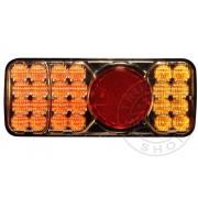 LED hátsó lámpa 3 funkciós jobb 12/24V