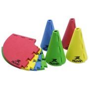 Cone de Marcação 16cm em EVA (Kit com 12 unidades) - Tamanho Único (16 cm)