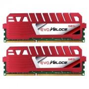 Memorie GeIL EVO Veloce 8GB (2x4GB) DDR3, 1866MHz, PC3-14900, CL9, Dual Channel Kit, GEV38GB1866C9DC