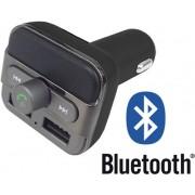 Premium 5-in-1 Bluetooth Carkit - Auto MP3 Speler / FM transmitter / LED Display / Handsfree bellen / 2 x High Speed USB Oplader / SD,TF Card Ondersteuning / USB Stick