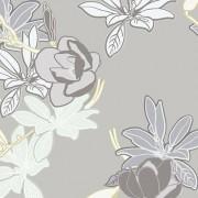 Хартиени тапети дуплекс Алмапласт 'Цветя' беж