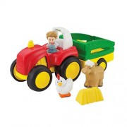 Fisher Price Little People Tow N Pull Tractor (Green Tractor)