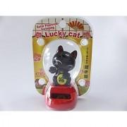 Lucky Cat MANEKI NEKO Solar Power Dancing Figure Japanese Fortune