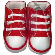 Mummy Papa Red Canvas Shoe
