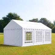Intent24 4x6m tente de réception, PVC anti-feu, H. 2m, blanc