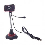 Webcam 8.0 - 640 x 480 - Portátil - Visão Nocturna LED/Microfone Embutido/Video Chamada HD/Flexivél