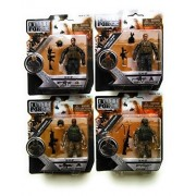 Elite Force Marine Force Recon SHOOTER Action Figure BUNDLE with Elite Force Action Figures: RECCE, COBRA and PATRIOT (Set of 4)