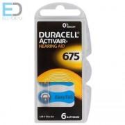 Duracell hallókészülék elem DA675N6
