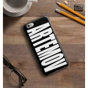 """Именной чехол для iPhone """"Знаменитость"""" черный"""