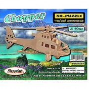 Puzzled Chopper Wooden 3D Puzzle Construction Kit