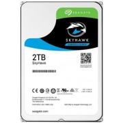 HDD Desktop Seagate SkyHawk, 2TB, SATA III 600, 64 MB Buffer + Cablu conexiune S-ATA III 4World 08530, 452 mm, conector 90 grade