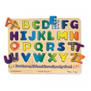 Melissa & Doug Alphabet Puzzle - Brown - 340