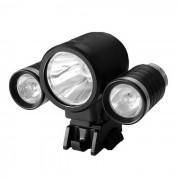 blanco neutro 4-Modo resistente al agua BK nuevo estilo 3-LED de luz LED de bicicletas