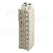 Skeleton Bone Design Wooden Building Blocks Jenga Toy Set for Children - Beige White