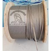 Linka stalowa nierdzewna INOX AISI 316 fi 3mm min. do mocowania pomp