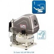kompresor dentálny, mediciísky a laboratorny Dr. Sonic 102-24F-FM-0,75M