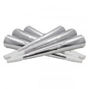 Fényes trombita 20 cm, ezüst, 6 db/cs
