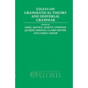 Essays on Grammatical Theory and Universal Grammar by Doug Arnold