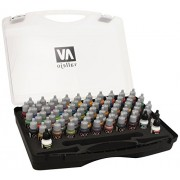 Vallejo Acrylic Paints 72172 Game Color Paint Set In Plastic Storage Case