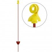 25x Electric Fence Post 105cm, Round ? 7mm