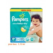 Scutece Pampers Active Baby-Dry 4+ Maxi Plus Mega Pack 120 buc