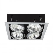 Lámpatest álmennyezeti AR111 12V 4x50W MATEO szürke négyzet Kanlux - 4964