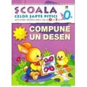 0+ Compune un desen - Activitati pentru copiii de la 0 la 1 an