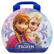 Disneys Frozen Collectible Suitcase Tin with Elsa Anna Sven and Olaf Characters
