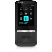 Philips GoGear SA5AZU08KF Baladeur Mp4 8Go Bluetooth avec TunerFM, Ecran 5.6cm, 35h d'Autonomie Musicale, Noir