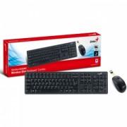 Kit Tastatura + Mouse Wireless Genius SlimStar 8000ME Negru
