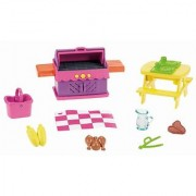 Dora The Explorer Playtime Together Dora and Me Dollhouse Deluxe Backyard BBQ Set