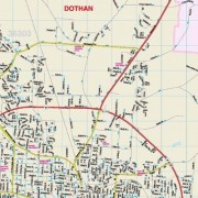 Universal Map Dothan Alabama Fold Map (Set of 2) 11180