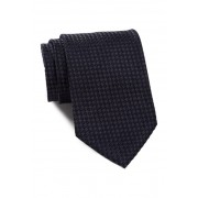 BOSS Hugo Boss Check Woven Silk Tie CHARCOAL